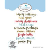 Elizabeth Craft Designs - Christmas - Dies - Words 5 - Winter Wishes