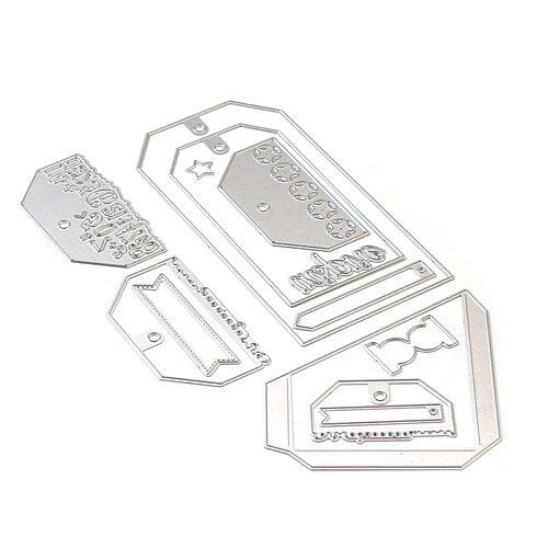 Elizabeth Craft Designs - Dies - Planner Essentials 26 - Planner Pocket 4 - Tag and Toppers