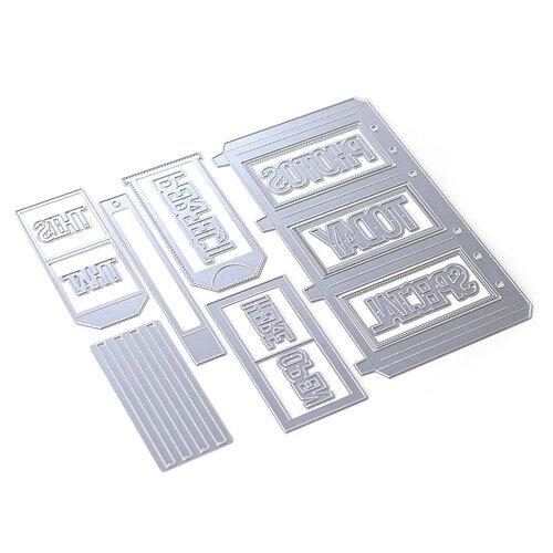 Elizabeth Craft Designs - Dies - Planner Essentials 31 - Slider Pockets