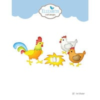 Elizabeth Craft Designs - Joset's Life Is Better On The Farm Collection - Dies - Hen and Rooster