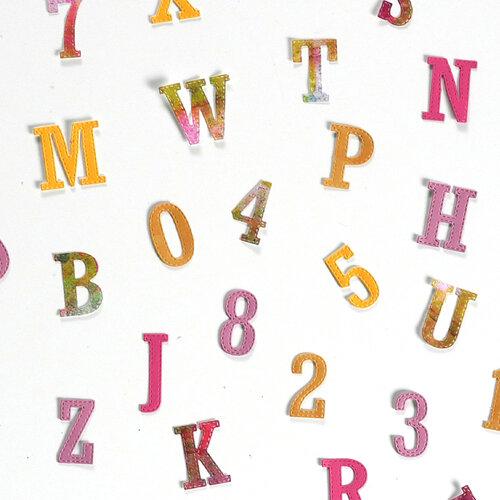 Elizabeth Craft Designs - Dies - Planner Essentials 37 - Stitched Letters  and Numbers