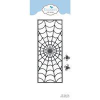 Elizabeth Craft Designs - Happy Harvest Collection - Dies - Slimline - Spider Web Background