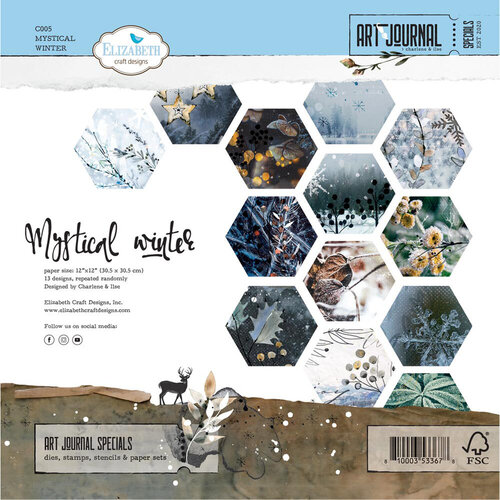 Elizabeth Craft Designs - 12 x 12 Paper Pad - Mystical Winter