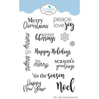 Elizabeth Craft Designs - Clear Photopolymer Stamps - Classic Christmas Sentiments