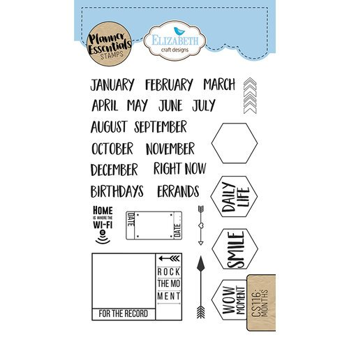 Elizabeth Craft Designs - Clear Photopolymer Stamps - Months