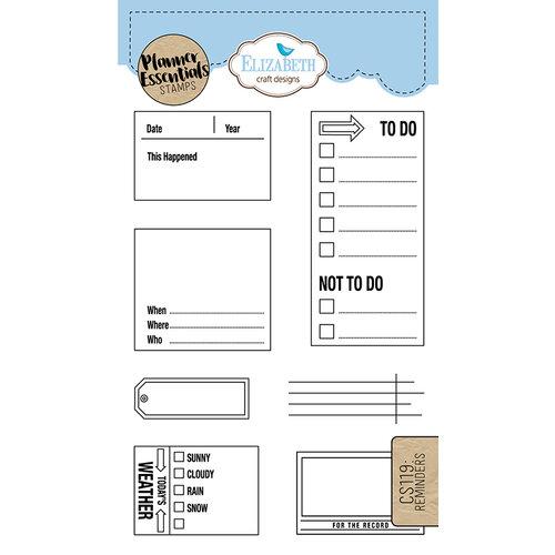 Elizabeth Craft Designs - Clear Photopolymer Stamps - Reminders