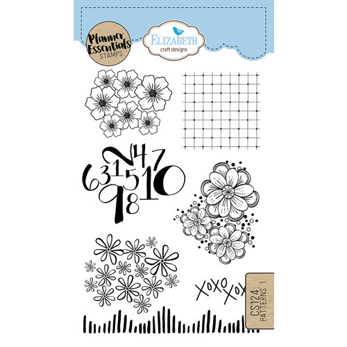 Elizabeth Craft Designs - Clear Photopolymer Stamps - Patterns 1
