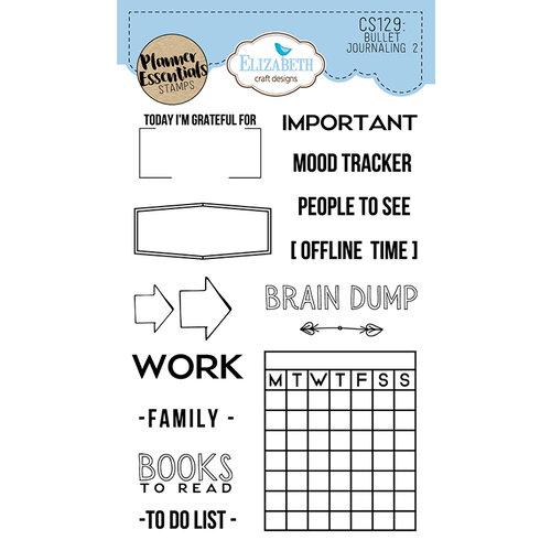 Elizabeth Craft Designs - Clear Photopolymer Stamps - Bullet Journaling 2