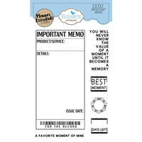 Elizabeth Craft Designs - Clear Photopolymer Stamps - Important Memo