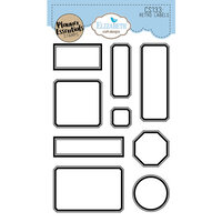 Elizabeth Craft Designs - Clear Photopolymer Stamps - Retro Labels