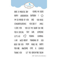 Elizabeth Craft Designs - Clear Photopolymer Stamps - Build Your Own Sentiments 1