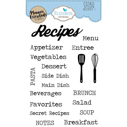 Elizabeth Craft Designs - Clear Photopolymer Stamps - Kitchen Recipes 1