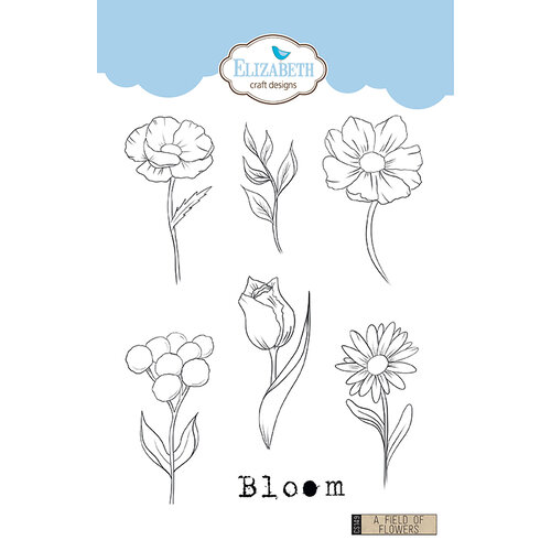 Elizabeth Craft Designs - Clear Photopolymer Stamps - A Field of Flowers