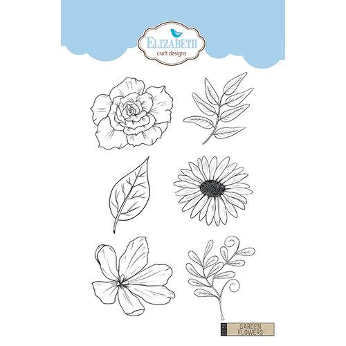 Elizabeth Craft Designs - Clear Photopolymer Stamps - Garden Flowers
