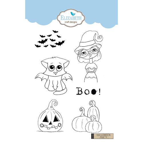 Elizabeth Craft Designs - Clear Photopolymer Stamps - Halloween Party