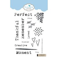 Elizabeth Craft Designs - Clear Photopolymer Stamps - Journaling Elements