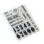 Elizabeth Craft Designs - Clear Photopolymer Stamps - Pieces of Life 1 - Numbers and More