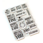 Elizabeth Craft Designs - Clear Photopolymer Stamps - Pieces of Life 4 - Retro