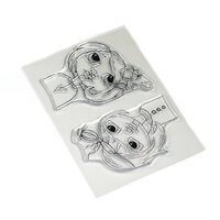 Elizabeth Craft Designs - Clear Photopolymer Stamps - Floral Girls