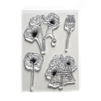Elizabeth Craft Designs - Clear Photopolymer Stamps - Poppy Dream