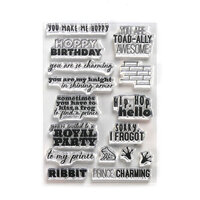 Elizabeth Craft Designs - Storybook Collection - Clear Photopolymer Stamps - Prince and Frog Sentiments