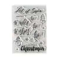 Elizabeth Craft Designs - Christmas - Clear Photopolymer Stamps - Snow