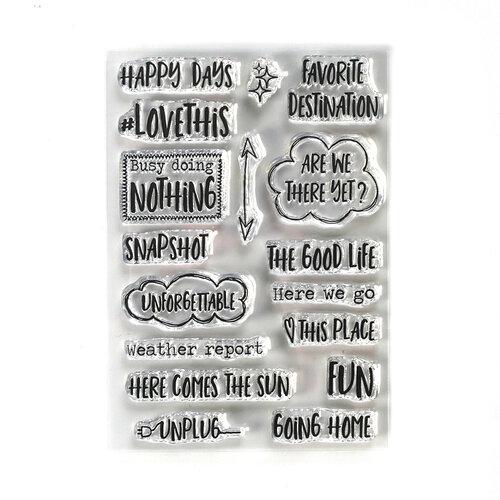 Elizabeth Craft Designs - Clear Photopolymer Stamps - Destination Phrases