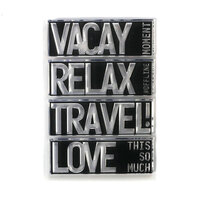 Elizabeth Craft Designs - Clear Photopolymer Stamps - Block Words - Travel
