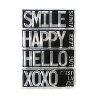 Elizabeth Craft Designs - Clear Photopolymer Stamps - Block Words - Hello