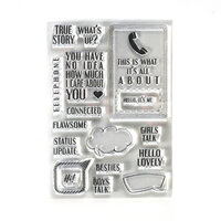 Elizabeth Craft Designs - Clear Photopolymer Stamps - Phone Booth