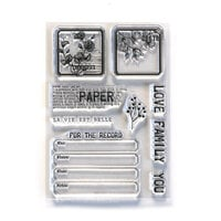 Elizabeth Craft Designs - Clear Photopolymer Stamps - Paper Love