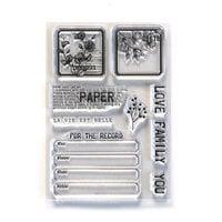 Elizabeth Craft Designs - Clear Photopolymer Stamps - Paper Love