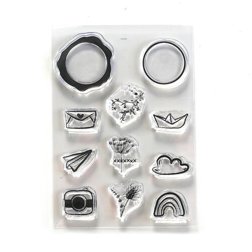 Elizabeth Craft Designs - Clear Photopolymer Stamps - Seal Embellishments