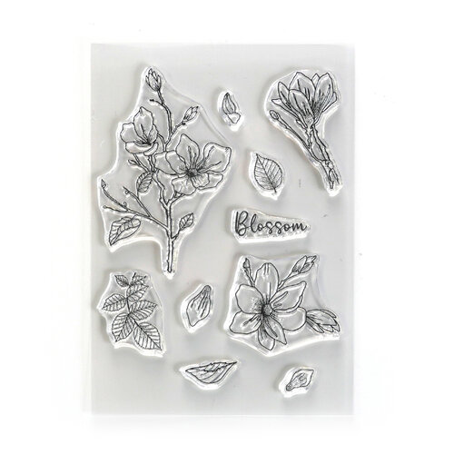 Elizabeth Craft Designs - Beautiful Blooms Collection - Clear Photopolymer Stamps - Blossom
