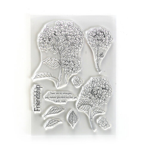 Elizabeth Craft Designs - Beautiful Blooms Collection - Clear Photopolymer Stamps - Friendship