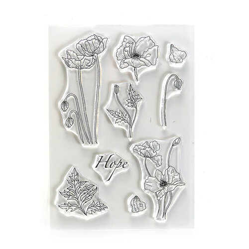 Elizabeth Craft Designs - Beautiful Blooms Collection - Clear Photopolymer Stamps - Hope