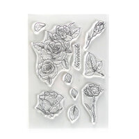Elizabeth Craft Designs - Beautiful Blooms Collection - Clear Photopolymer Stamps - Gratitude