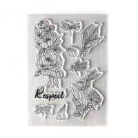 Elizabeth Craft Designs - Beautiful Blooms 2 Collection - Clear Photopolymer Stamps - Respect