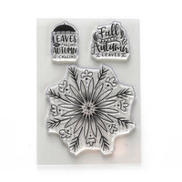 Elizabeth Craft Designs - Clear Photopolymer Stamps - Autumn Leaves