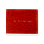Echo Park - Greeting Card - Christmas - Red Snowflake