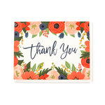 Echo Park - Greeting Card - Thank You - Red Floral