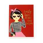 Echo Park - Greeting Card - Valentines - Heart Eyes