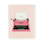 Echo Park - Greeting Card - Valentines - Typewriter