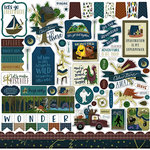 Echo Park - Adventure Awaits Collection - 12 x 12 Cardstock Stickers - Elements