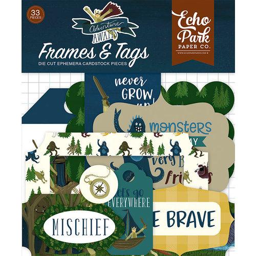 Echo Park - Adventure Awaits Collection - Ephemera - Frames and Tags