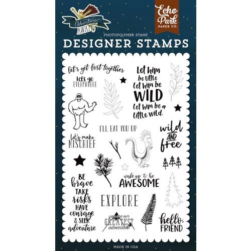 Echo Park - Adventure Awaits Collection - Clear Photopolymer Stamps - Get Lost Together