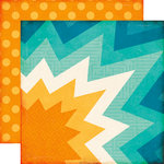Echo Park - All About a Boy - 12 x 12 Double Sided Paper - Superhero