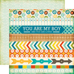 Echo Park - All About a Boy - 12 x 12 Double Sided Paper - Border Strips
