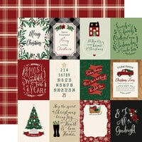 Echo Park - A Cozy Christmas Collection - 12 x 12 Double Sided Paper - 3 x 4 Journaling Cards