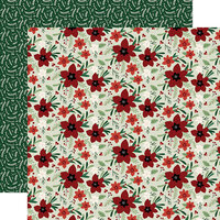 Echo Park - A Cozy Christmas Collection - 12 x 12 Double Sided Paper - Joyful Floral